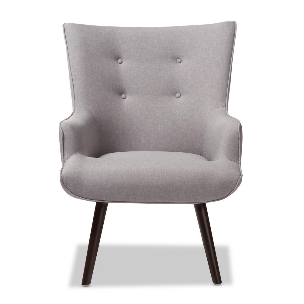 Baxton Studio Alden Light Grey Fabric Upholstered Lounge Chair 143-8133-HD