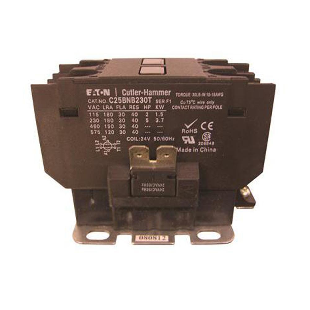 208v Contactor Wiring Electrical Diagrams Eaton 3 Pole Diagram 40 Amp 208 Volt 240 Definite Purpose Control Single Phase