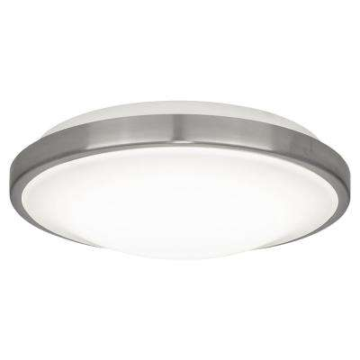 11 in. 20-Watt Brushed Chrome Integrated LED Flushmount