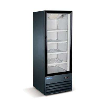 9 cu. ft. Single Door Commercial Merchandiser Refrigerator in Black