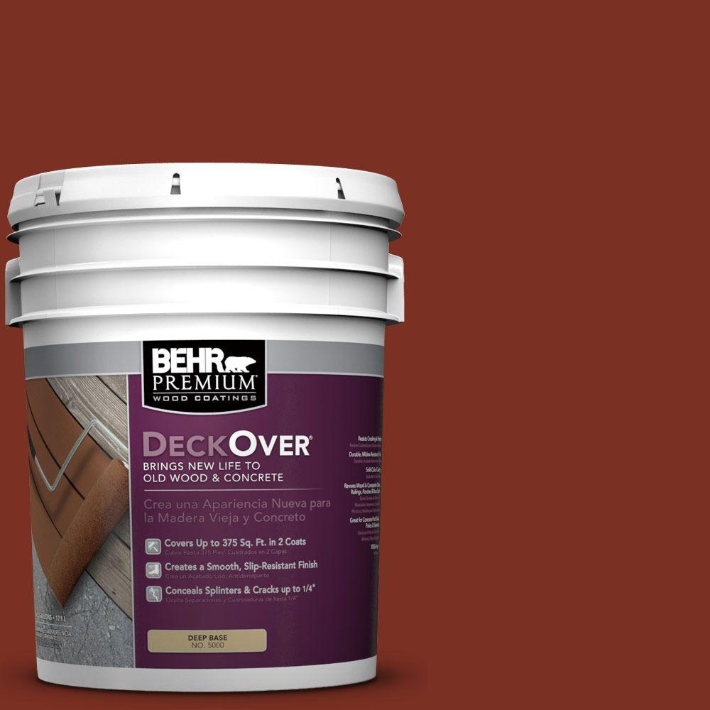 BEHR Premium DeckOver 5 gal. #SC-330 Redwood Wood and Concrete Coating