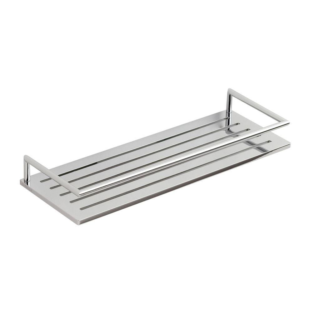 Surface 12 in. W Shower Shelf in Polished Chrome