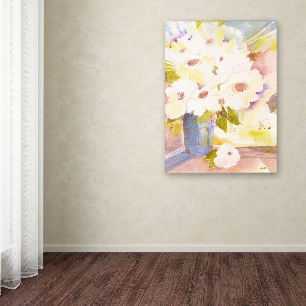 Trademark Fine Art 47 in. x 35 in. Bouquet in White Canvas Art