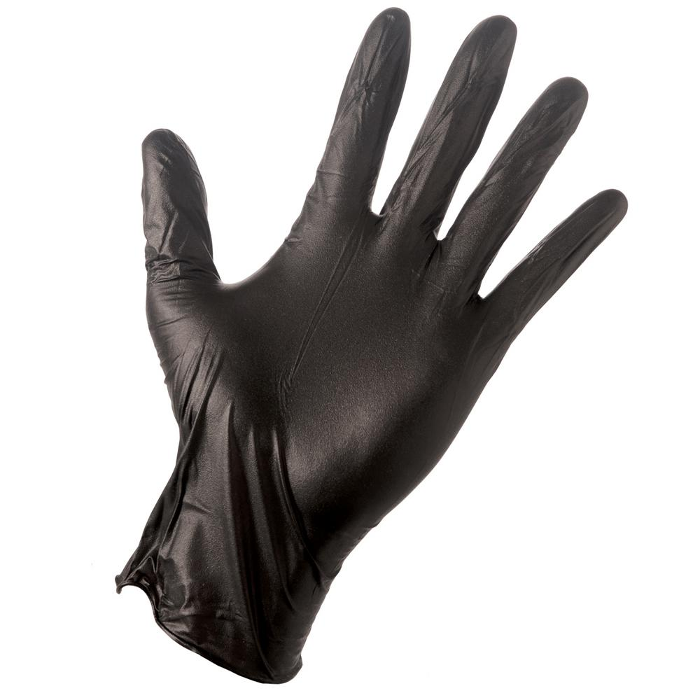 Grease Monkey Large Black 4 Mil Disposable Nitrile Gloves (100-Box)