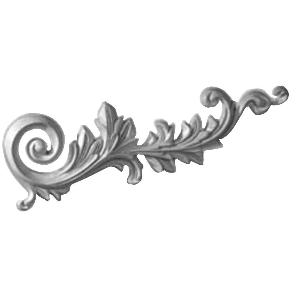 Ekena Millwork 1-1/8 in. x 15-3/4 in. x 5-1/8 in. Polyurethane Right Robin Scroll Onlay Moulding