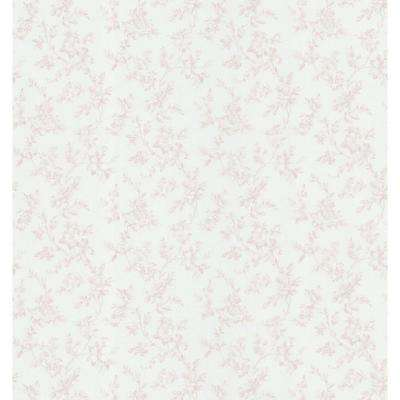 Cameo Rose IV Pink Floral Trail Wallpaper Sample