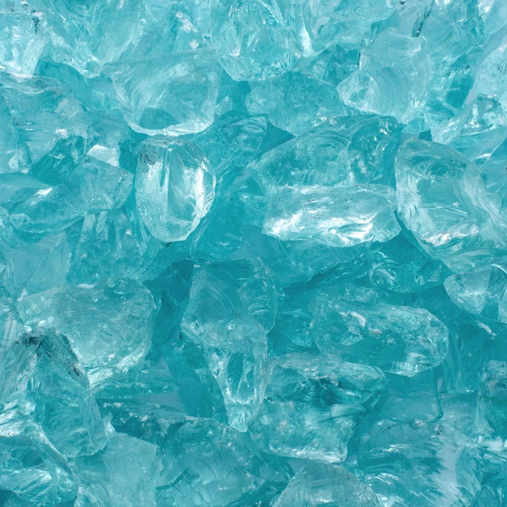 1/2 in. 20 lb. Medium Aqua Landscape Glass
