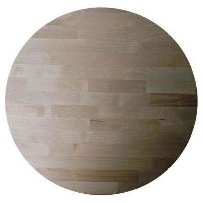 Allwood 1-1/2 in. x 4 ft. x 4 ft. Birch Edge Glued Round Project Panel
