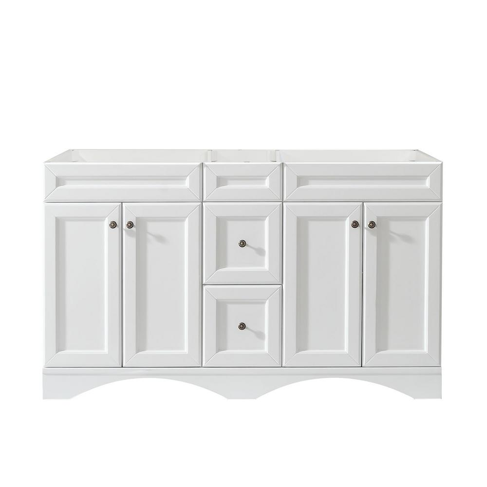 Virtu USA Talisa 60 In. W X 21 In. D Vanity Cabinet Only In  White ED 25060 CAB WH   The Home Depot