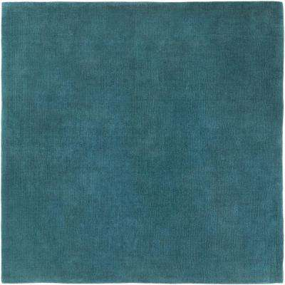 Falmouth Teal 10 ft. x 10 ft. Indoor Square Area Rug