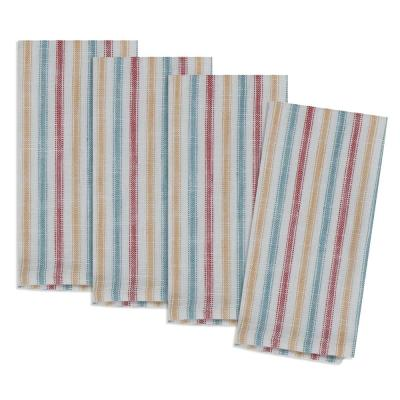 Country Fresh 20 in. x 20 in. Multi Stripe Cotton Napkins (4-Pack)