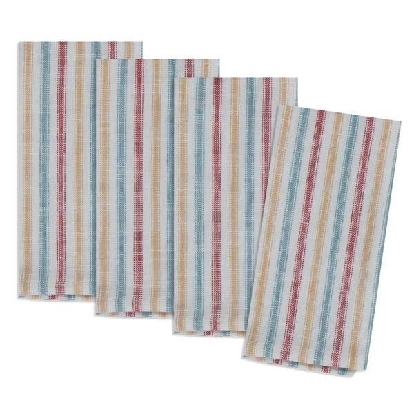 Kay Dee Country Fresh 20 In X 20 In Multi Stripe Cotton Napkins 4 Pack R4706s The Home Depot