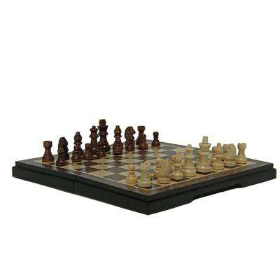 Magnetic Folding Chess and Checkers Set
