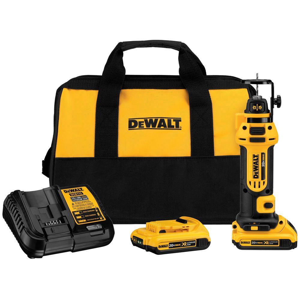 DEWALT 20-Volt MAX Lithium-Ion Cordless Drywall Cut-Out Tool Kit Deals