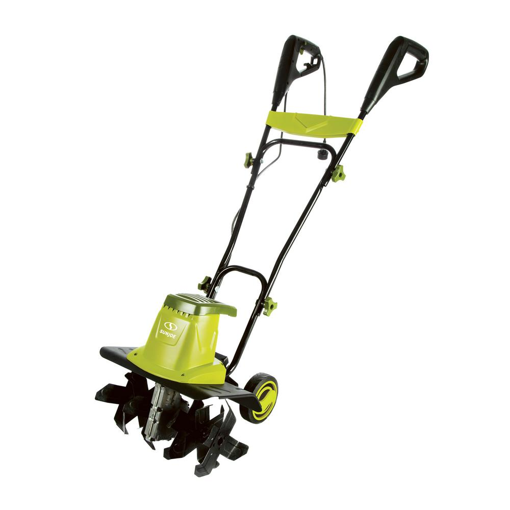 Sun Joe 13 5 Amp 16 In Electric Tiller Cultivator With 5 5 In