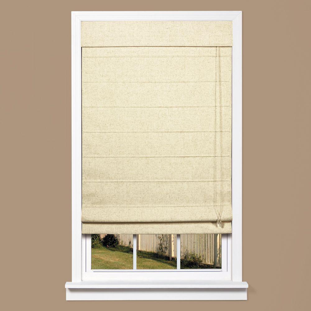Homebasics Natural Linen Look Thermal Blackout Fabric