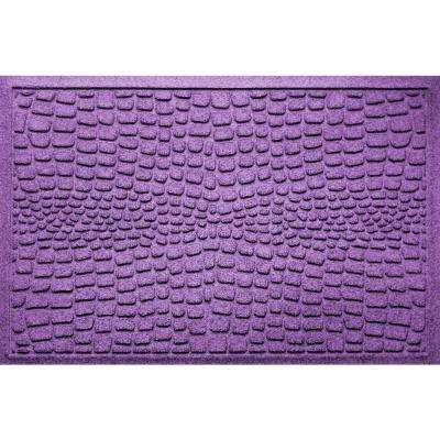 Alligator Purple 24 in x 36 in Polypropylene Door Mat