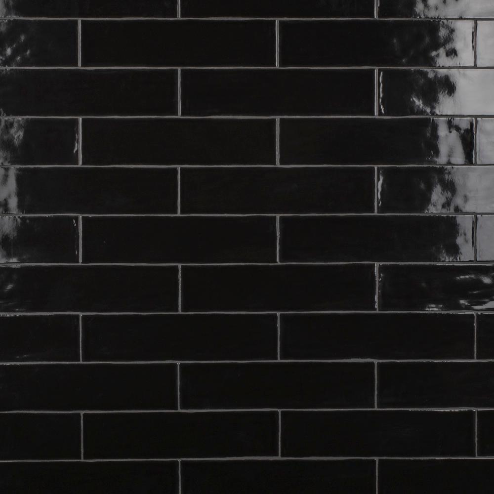 Chester Nero 3 in. x 12 in. Ceramic Subway Wall Tile (5.5 sq. ft. / Case)