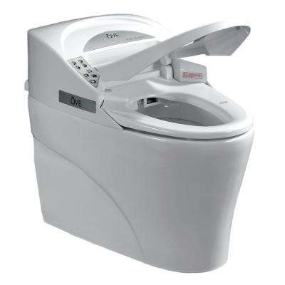Smart 1-piece 1.28 GPF Elongated Toilet and Bidet with Seat in White