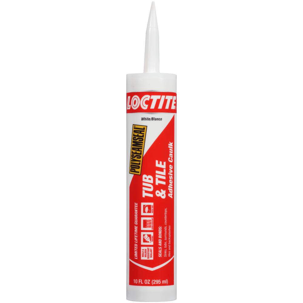 Loctite Polyseamseal 10 oz. White Tub and Tile Caulk (12-Pack ...