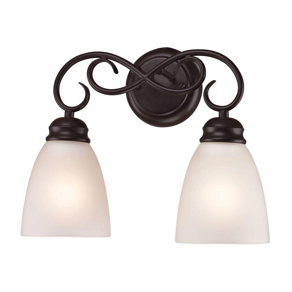 Titan Lighting Chatham 2-Light Oil-Rubbed Bronze Bath Bar Light