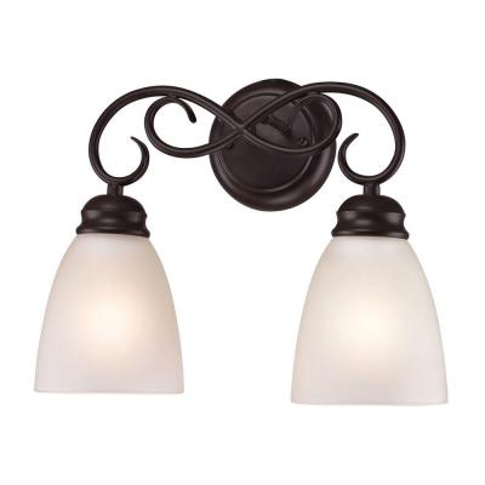 Chatham 2-Light Oil-Rubbed Bronze Bath Bar Light