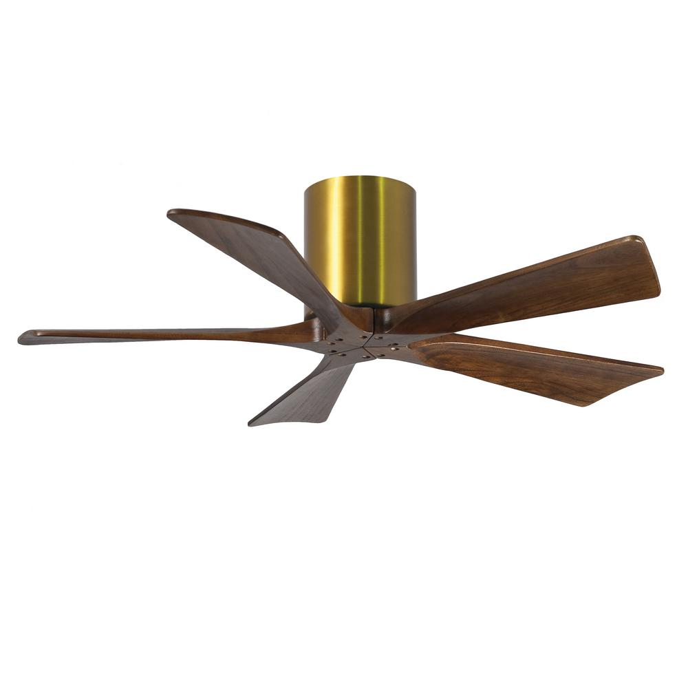 Indoor Outdoor Matte Black Ceiling Fan With Remote Control