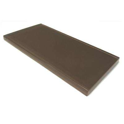 3 in. x 6 in. x 8mm Classic Brown Subway Glass Backsplash and Wall Tile Sample