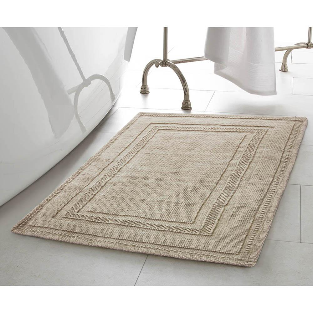 Cotton Stonewash Racetrack 17 in. x 24 in. Bath Rug in