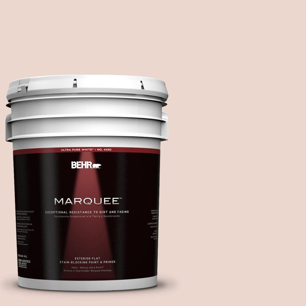 BEHR MARQUEE 5-gal. #210E-2 Antique Pearl Flat Exterior Paint
