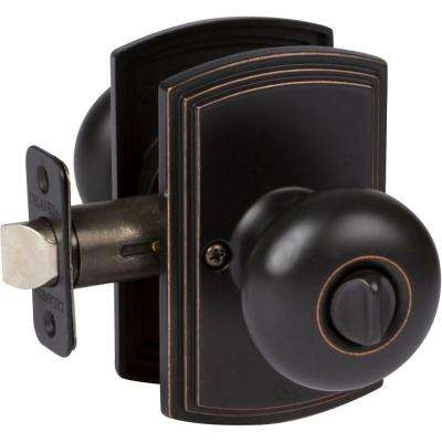 Italian Collection Santo Edged Oil-Rubbed Bronze Bed and Bath Knob