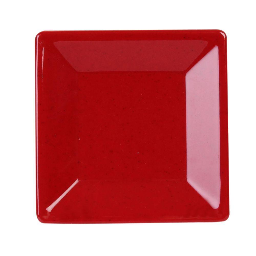 Restaurant Essentials Jazz 4 in. x 4 in. Square Plate in Red (1  sc 1 st  Home Depot & Restaurant Essentials Jazz 4 in. x 4 in. Square Plate in Red (1 ...