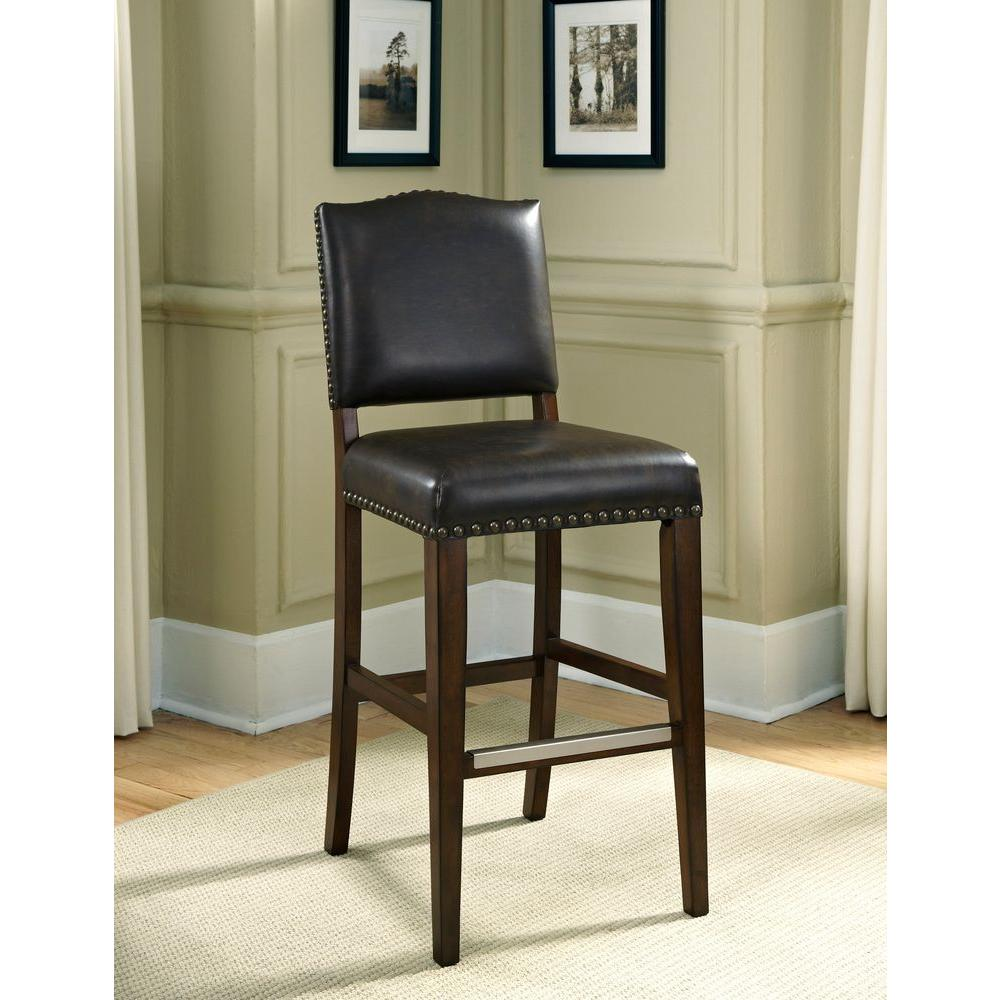 American Heritage Worthington 34 In Suede Cushioned Bar