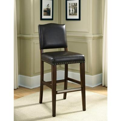Worthington 34 in. Suede Cushioned Bar Stool (Set of 2)