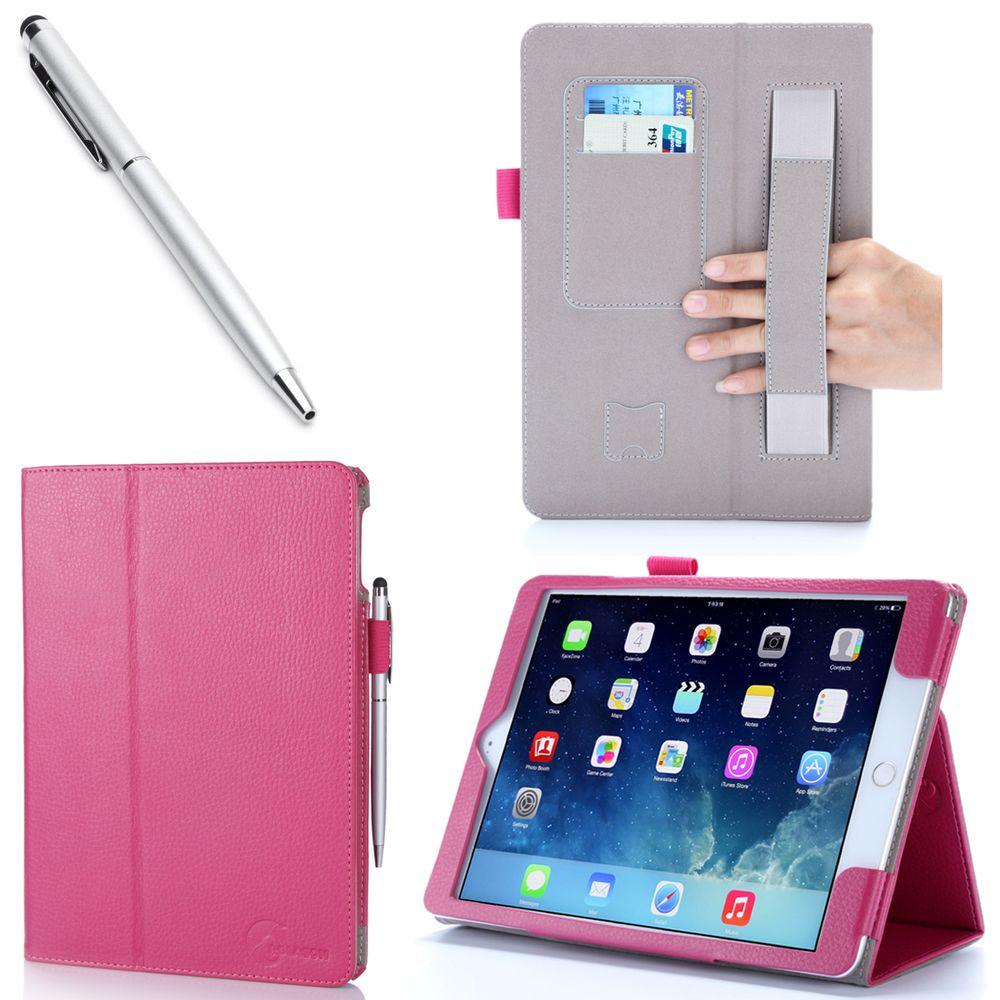 i-Blason 1 Fold Lather Case for iPad Air 2, Magenta