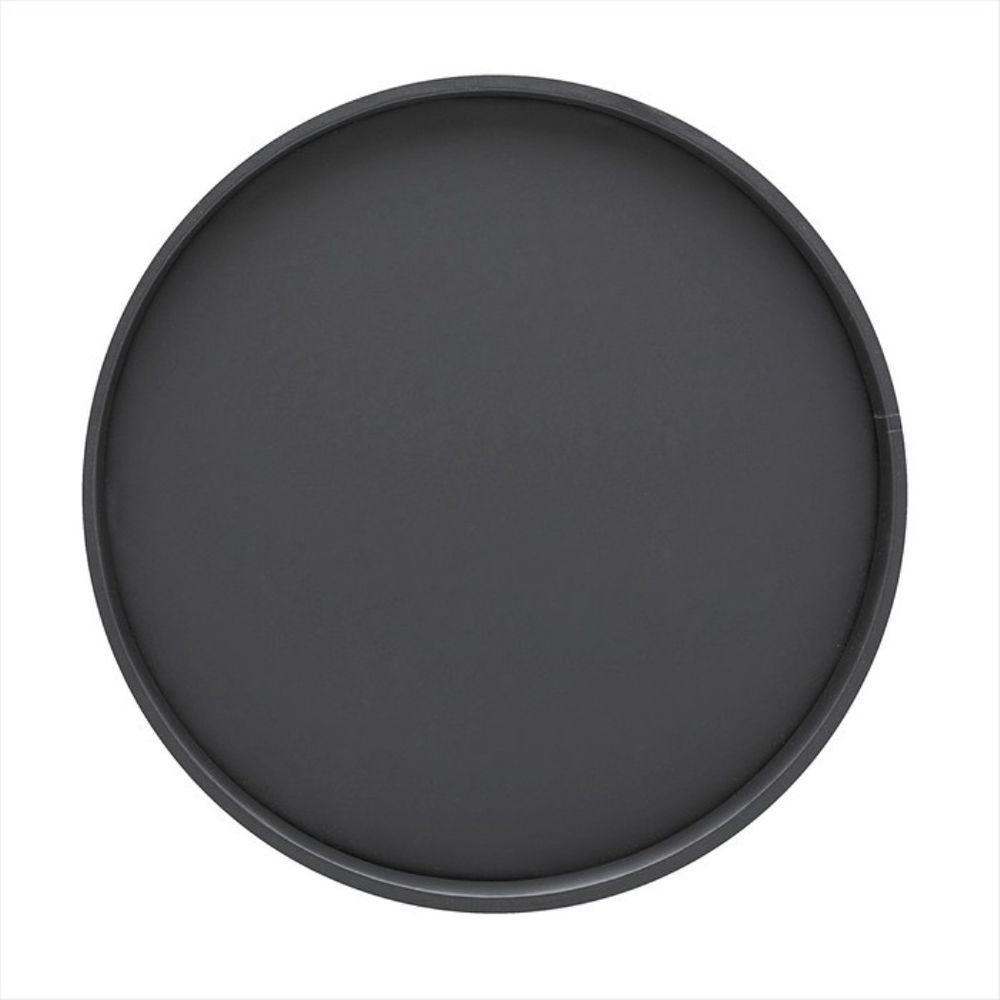 Kraftware 14 inch Round Serving Tray in Black by Kraftware