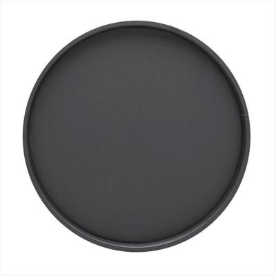 Bartenders Choice Fun Colors 14 in. Round Serving Tray in Black