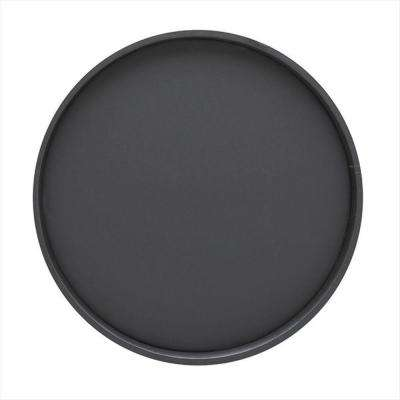 14 in. Round Serving Tray in Black