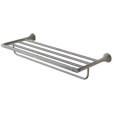 Lewes 24 in. Towel Rack in Brushed Nickel