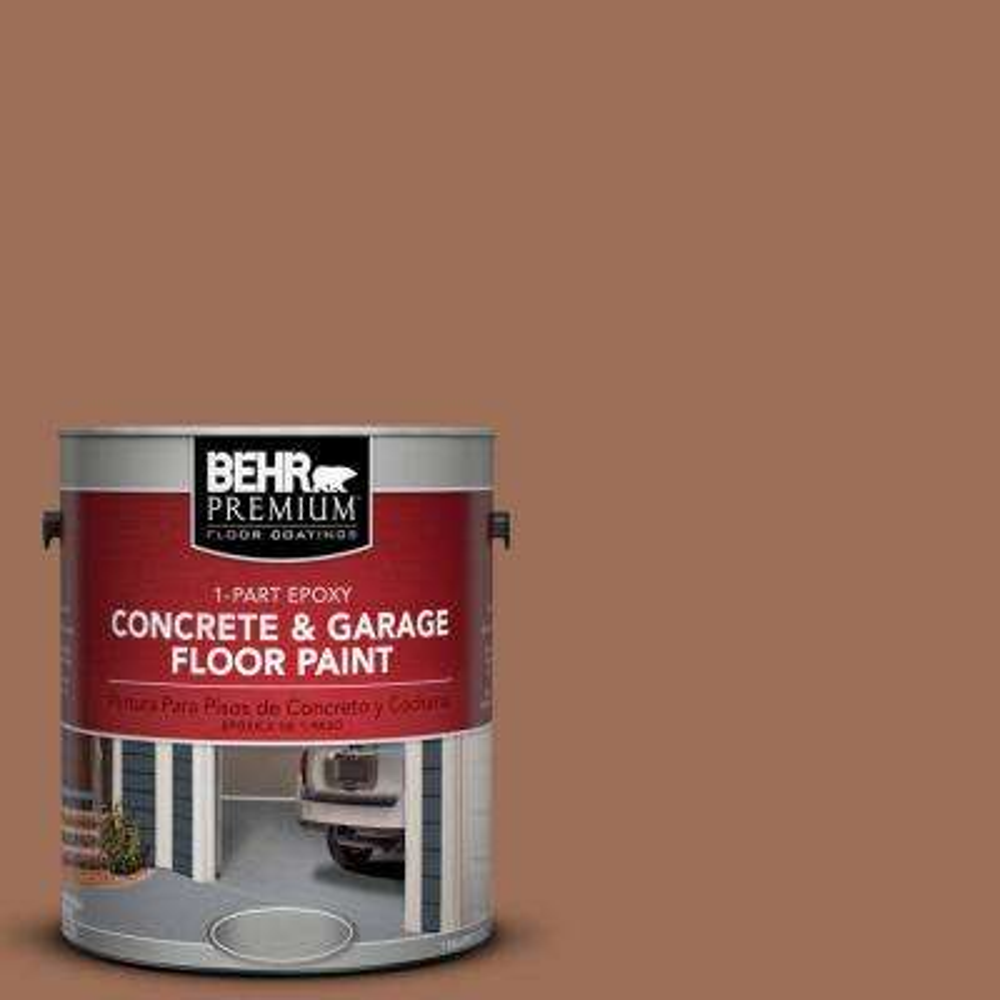 1 gal. #S210-6 Cinnamon Crunch 1-Part Epoxy Concrete and Garage Floor Paint