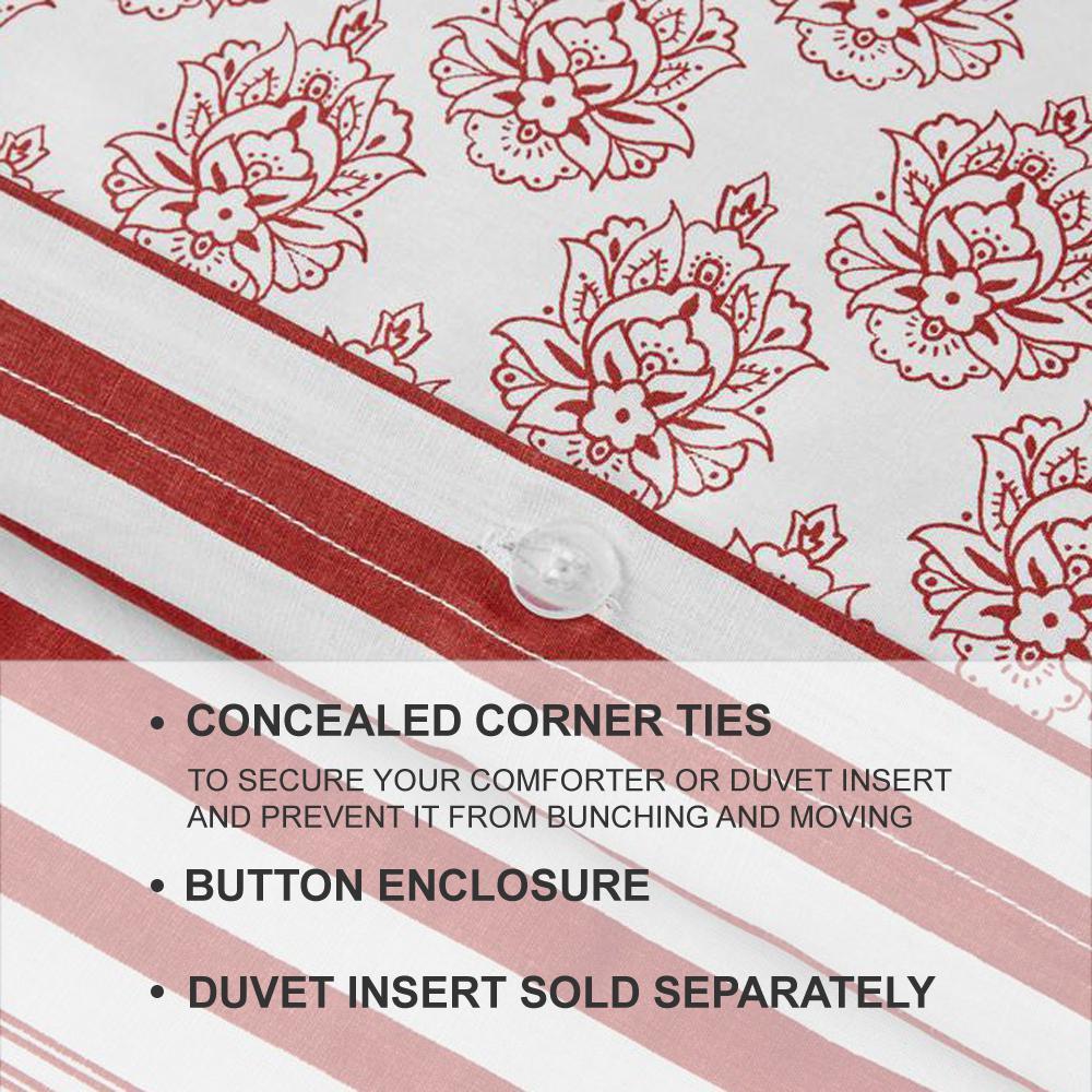 Malcolm 3-Piece Stone Gray Stripe Full/Queen Duvet Cover Set