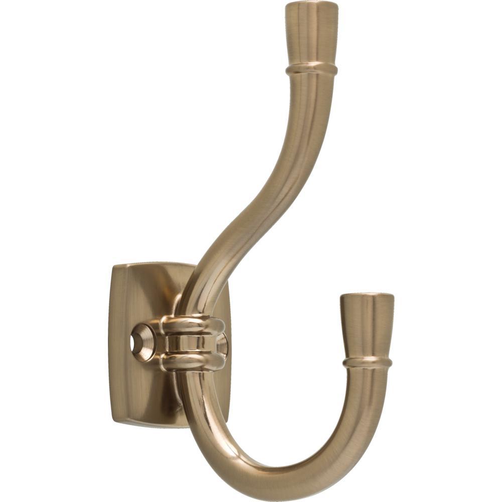 Liberty Izak 4-1/3 in. Champagne Bronze Coat  Hook