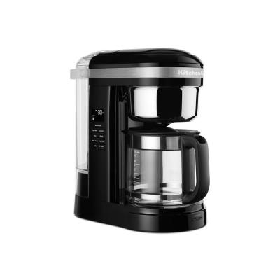 12-Cup Onyx Black Drip Coffee Maker with Spiral Showerhead