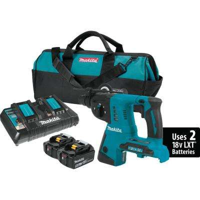 18-Volt X2 LXT Li-Ion (36-Volt) 1 in. Cordless SDS-Plus Concrete/Masonry Rotary Hammer Drill with (2) Batteries 5.0Ah
