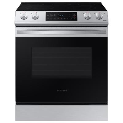 30 in. 6.3 cu. ft. Slide-In Electric Range with Self-Cleaning Oven in Stainless Steel