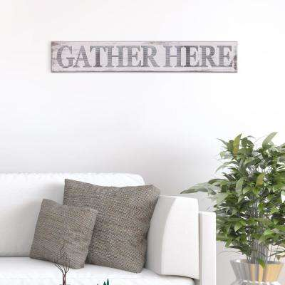 Gather Here Rustic Wood Sign