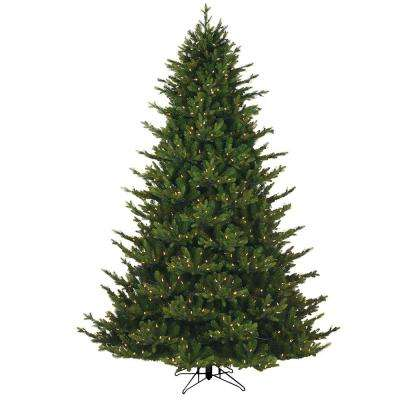 7.5 ft. Just Cut Canadian 1-Plug Artificial Christmas Tree with Dual Color LED