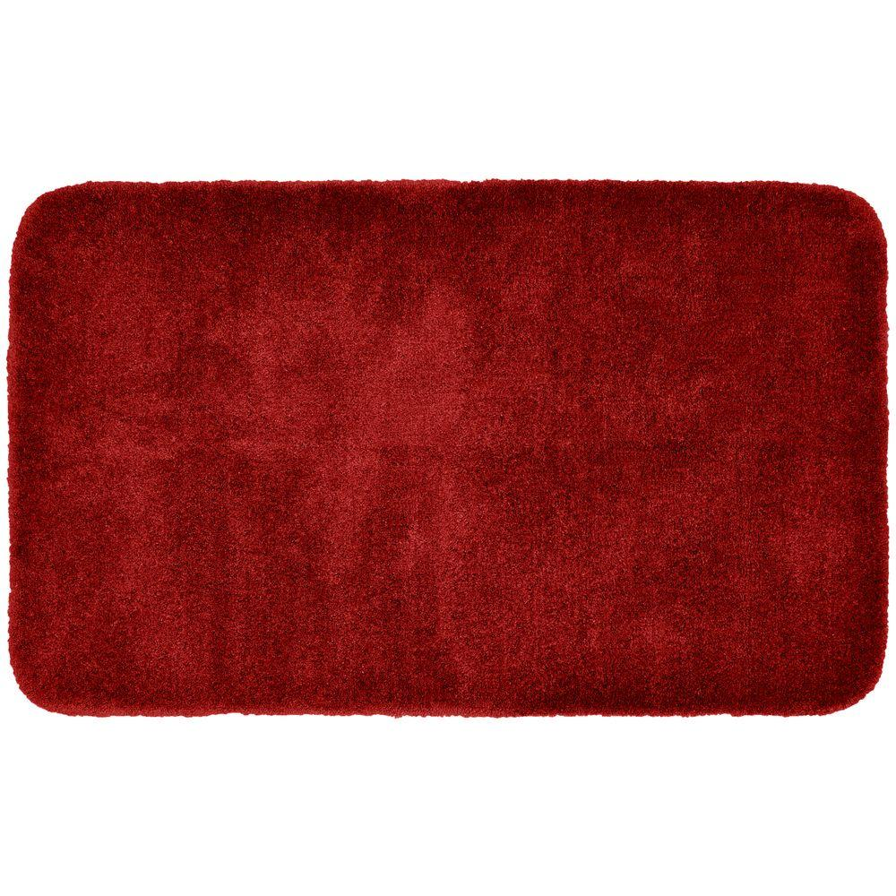 Finest Luxury Chili Pepper Red 30 in. x 50 in. Washable