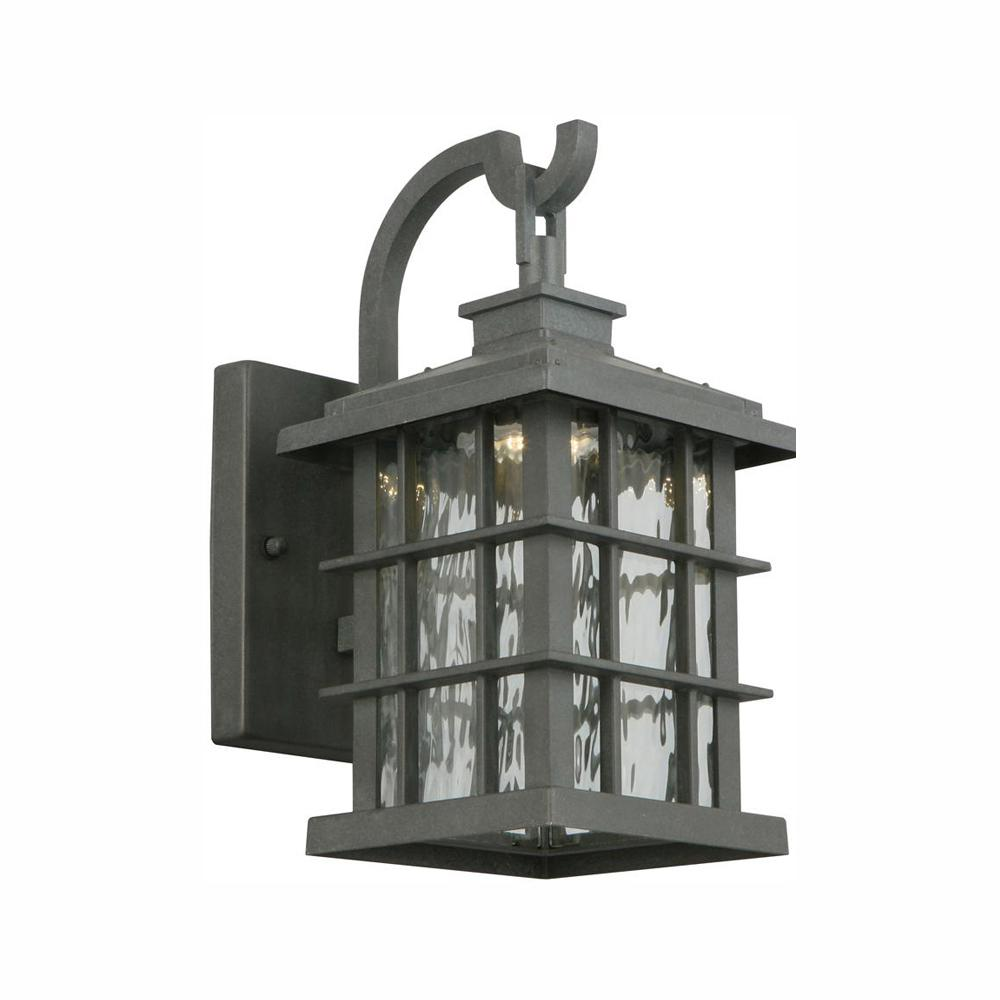 Home Decorators Collection Summit Ridge Collection Zinc Outdoor Integrated LED Wall Lantern Sconce