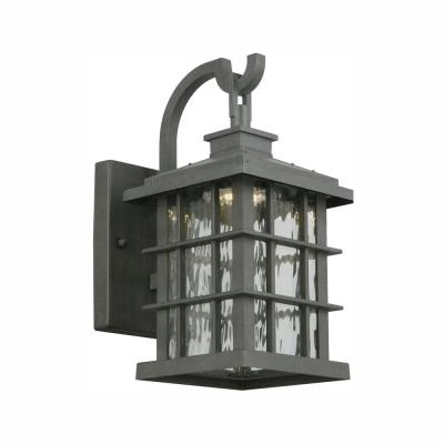Summit Ridge Collection Zinc Outdoor Integrated LED Wall Lantern Sconce